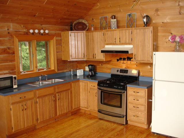 Cozy Kitchen In Log Cabin Vacation Rental
